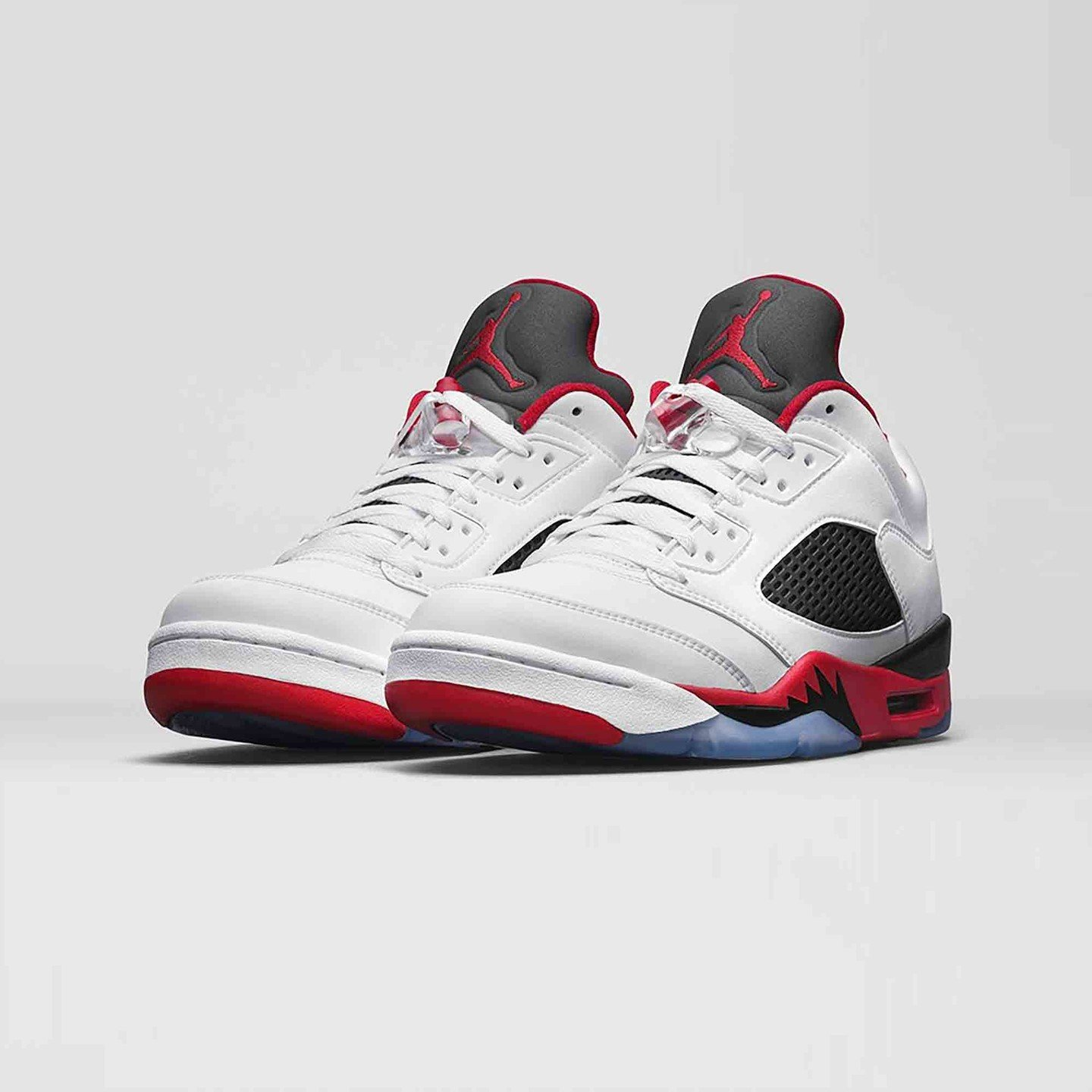 Jordan Air Jordan 5 Low Retro 'Fire Red' White / Fire Red / Black 819171-101-43
