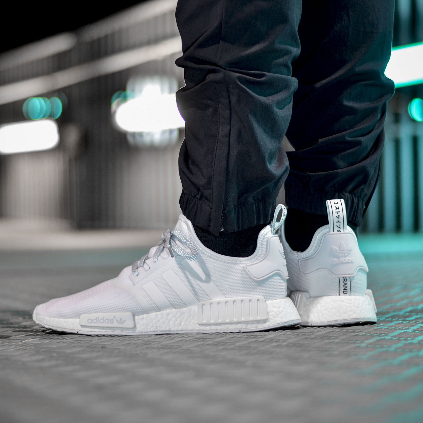 Adidas NMD R1 Runner Triple White S31506-42.66
