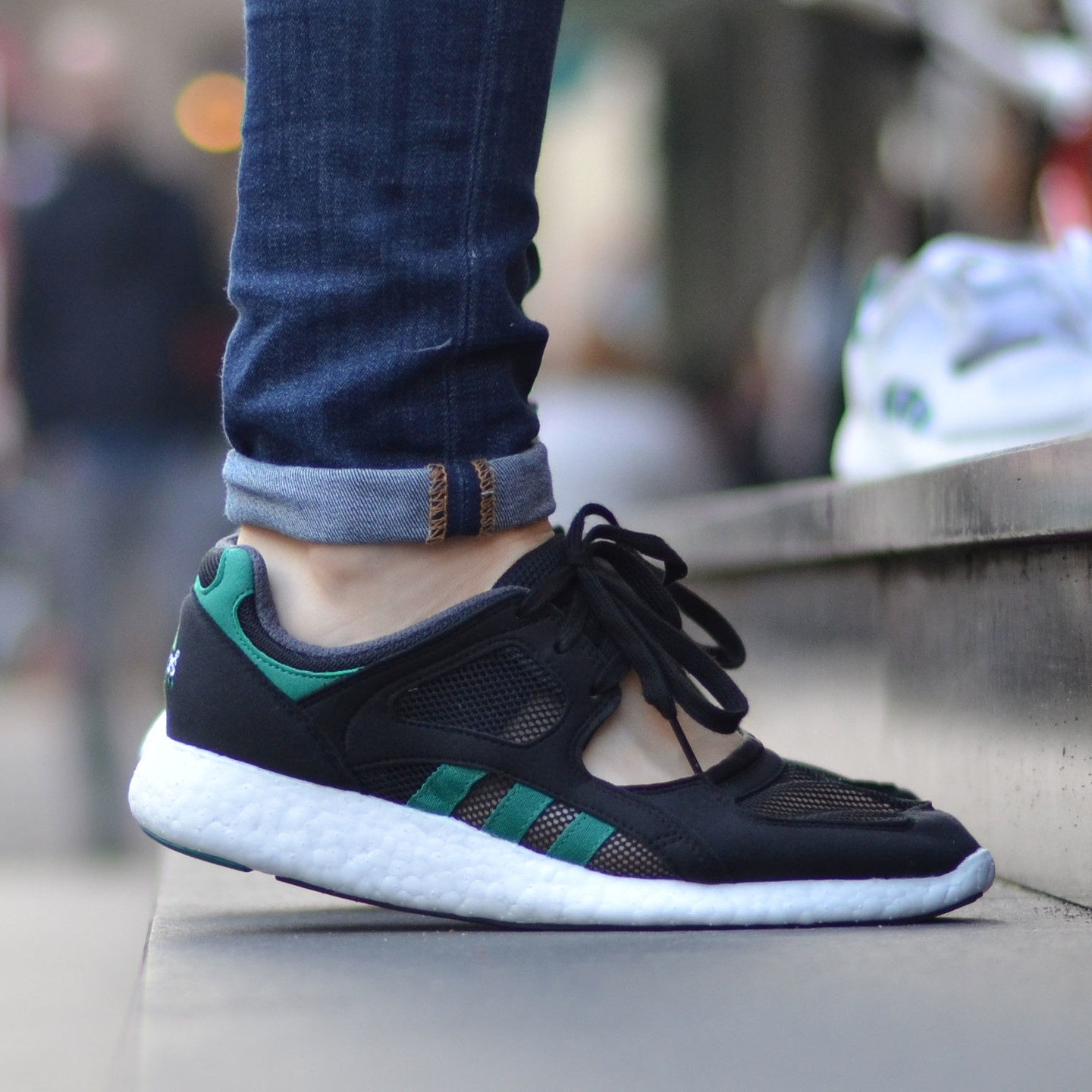 Adidas Equipment Racing 91/16 EQT Boost W Core Black / Sub Green S75584-38