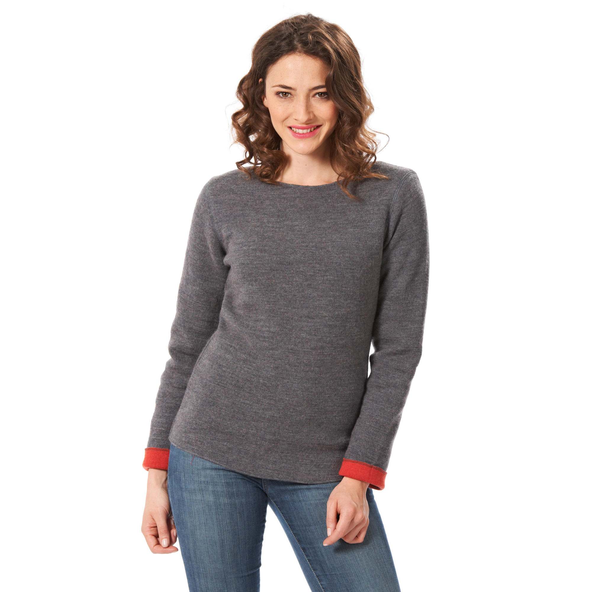 Pullover 'Outdoor' grau/orange  | L | Artikelnummer: 2646533 L