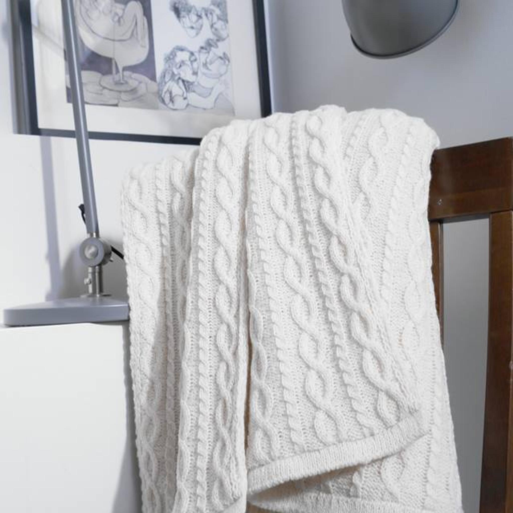 bett berwurf woolish 220x240 cm wei. Black Bedroom Furniture Sets. Home Design Ideas