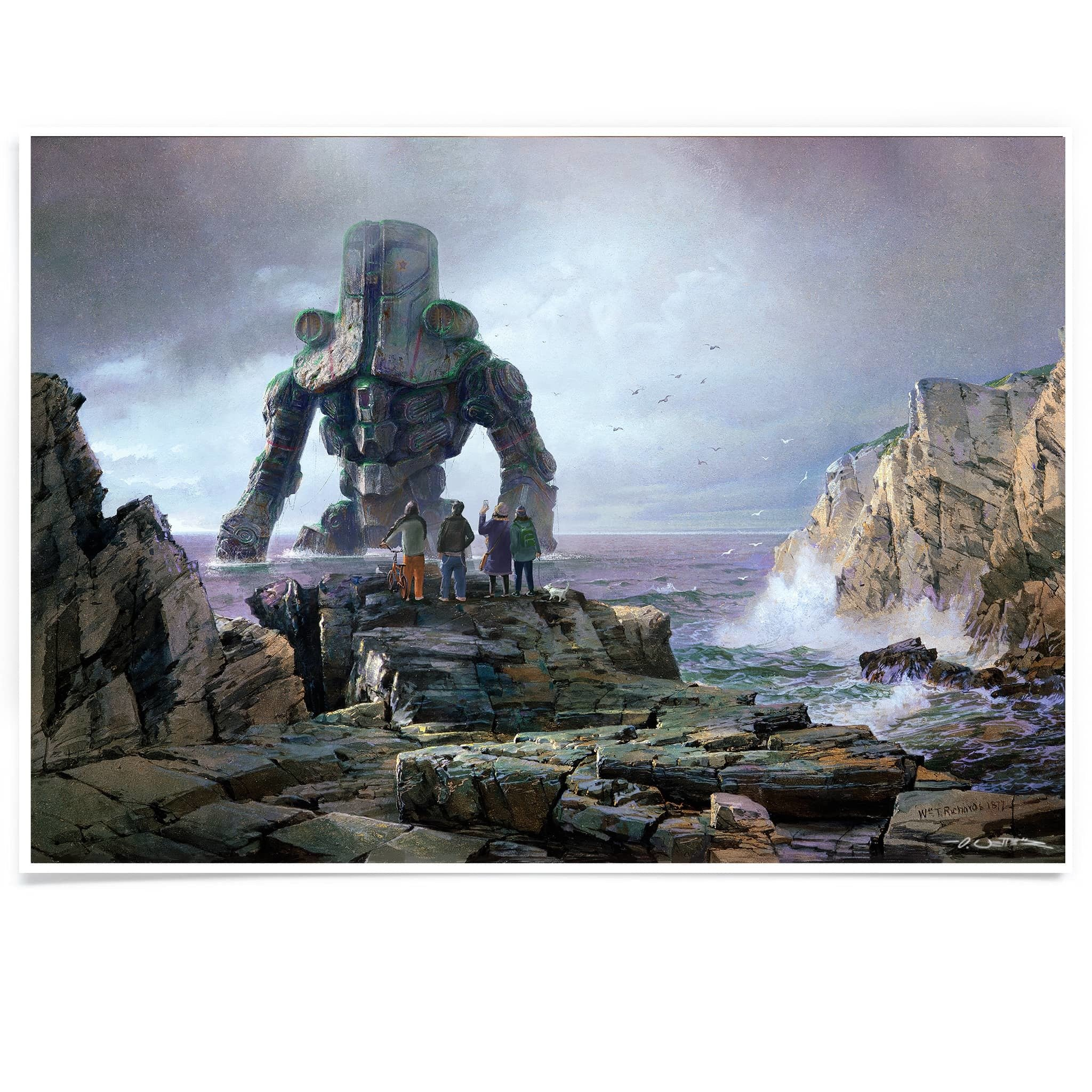 Cherno Alpha at Rocky Coast Print