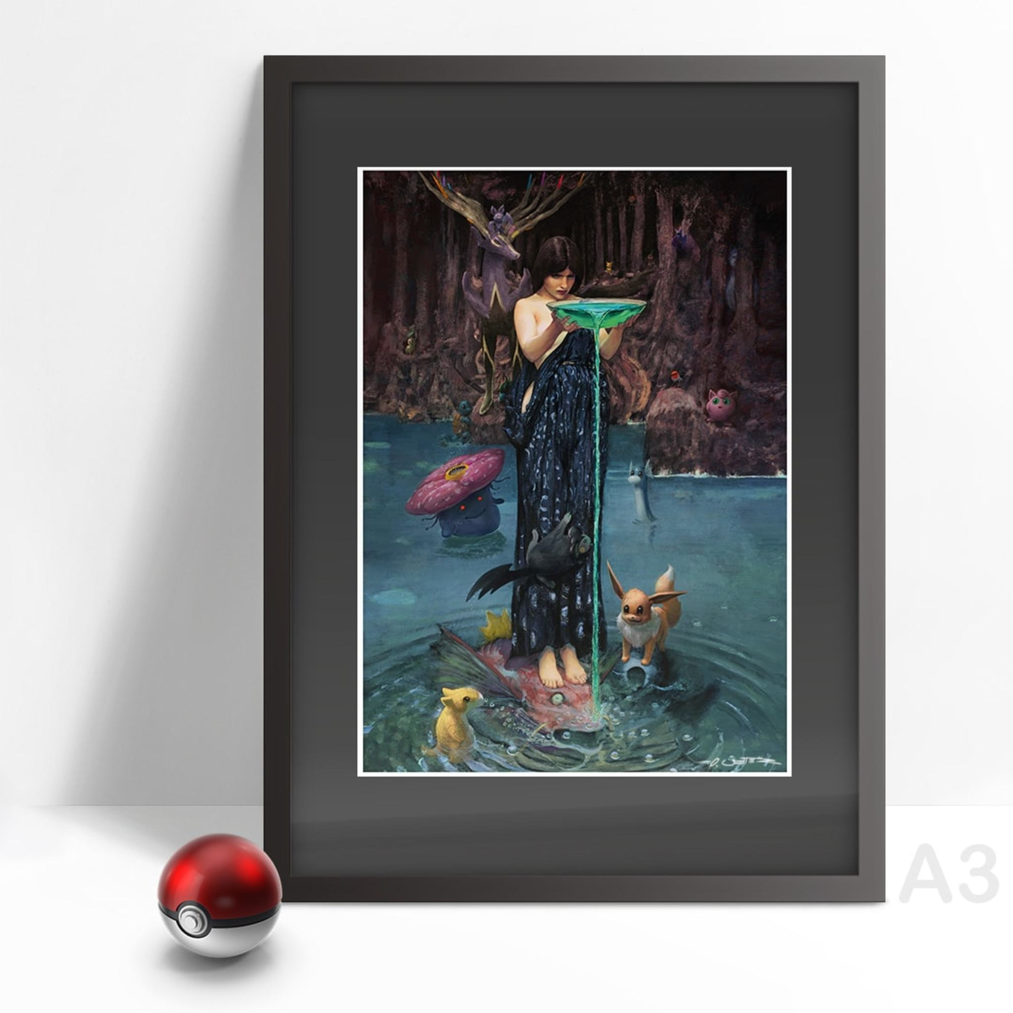 Circe - Mother of pokemon A3 Print gerahmt