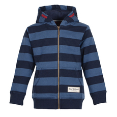 Striped Zip Hooded (navy)