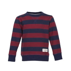 Stripe Sweat (navy - brick red)