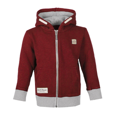 Slub Zip Hooded (brick red)