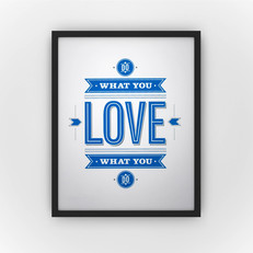 Do what you love - white