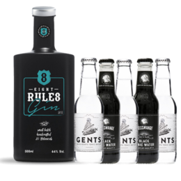 8 Rules Gin & Black/White Tonic Water