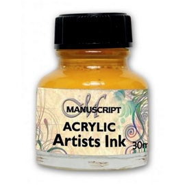 Acryltinte brilliant yellow MANUSCRIPT  | 30 ml  Glasflakon  | Artikelnummer: M044