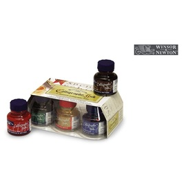 Winsor & Newton Calligraphy Ink Set | 6 Flakons à 30 ml im Glasflakon | Artikelnummer: CO0192