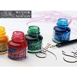 Winsor & Newton Calligraphy Ink  | Glasflakon à 30 ml mit Schraubdeckel | Artikelnummer: CO111