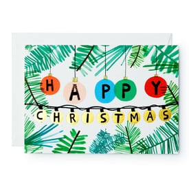 Happy Christmas – Weihnachtskarte |  Christmas Card | Artikelnummer: wrap_145