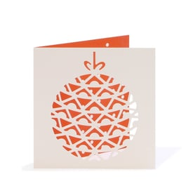 Baumkugel Weihnachtskarte / Bauble Christmas Card |  Cut Out Card | Artikelnummer: cm_kugel