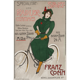 Specialität: Sport- und Radler Costumes | Advertising Poster around 1910 | Artikelnummer: POD-PI-3385