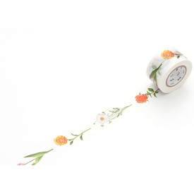 mt ex – Masking Tape mit Blumen | mt ex – washi tape with flowers | Artikelnummer: MTEX1P60Z_blumen