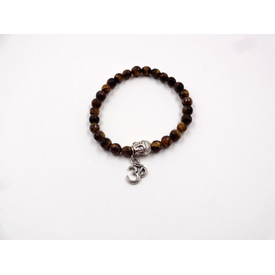 Mala - Armband 'Tiger Eye Om' |  | Artikelnummer: tiger eye om