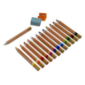Magisches Buntstiftset von Koh-I-Noor / Magic Coloured Pencil Set | 12 mehrfabige Stifte / 12 multicoloured pencils | Artikelnummer: koh-magicset