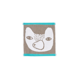 Bear Face Towel, 30x30cm |  | Artikelnummer: BB-Tow-Bear-Gry-Face