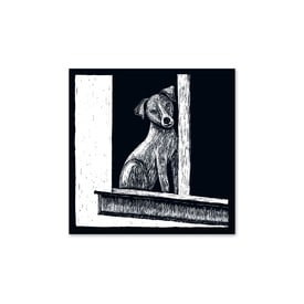 Quadratisches Kartenset Tiere  / Square card set animals | 4 Stück / Pack of 4 | Artikelnummer: rub_quadrat_tier