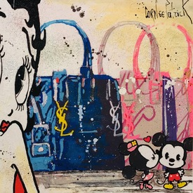 Minnie, Mickey and Betty love Yves St Laurent | 25 x 25 cm | Artikelnummer: COPAA786