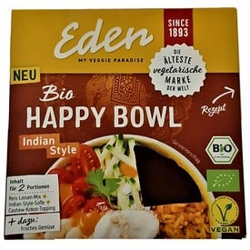 Eden Happy Bowl Indian Style BIO 274g | MHD 24.06.20 | Artikelnummer: 100325