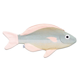 Fisch-Etui Goldener Scheinschnapper / Fish Case Golden Threadfin Bream | 100% Baumwolle / 100% Cotton | Artikelnummer: donfisher_scheinschnapper