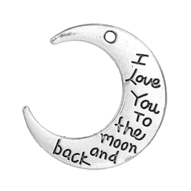 10 Anhänger* love you to the moon..... |  | Artikelnummer: B0082758