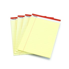 Kleines Yellow Pad mit Klebebindung / Small legal pad | 1 Set à  4 Blöcke / 1 pack of 4  | Artikelnummer: 59382-1