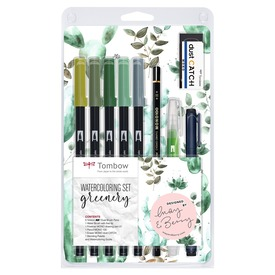Watercoloring Set greenery |  | Artikelnummer: WCS-GR
