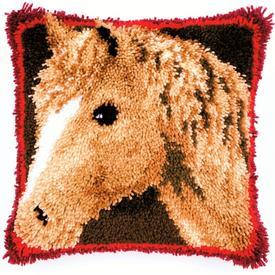 My Favourite Horse - smyrna kussen Vervaco | Knoopkussen met paard | Artikelnummer: vvc-145613