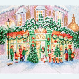 Christmas Shop - borduurpakket met telpatroon Letistitch |  | Artikelnummer: leti-914