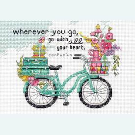 Wherever you go - borduurpakket met telpatroon Dimensions |  | Artikelnummer: dim-70-65189