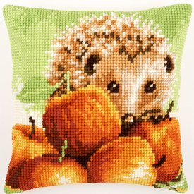 Hedgehog with Apples - Vervaco Kruissteekkussen |  | Artikelnummer: vvc-155865