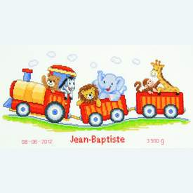 Safari Train - borduurpakket met telpatroon Vervaco |  | Artikelnummer: vvc-145025