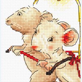 Fairy with Mice - borduurpakket met telpatroon Luca-S      Artikelnummer: luca-b1170