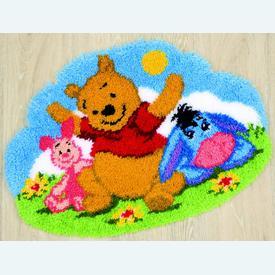 Lazy Afternoon - knooptapijt Vervaco Winnie the Pooh | Smyrna tapijt met Winnie the Pooh en zijn vriendjes | Artikelnummer: vvc-144844