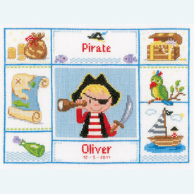 One Eyed Pirate - handwerkpakket met telpatroon - Vervaco |  | Artikelnummer: vvc-148606