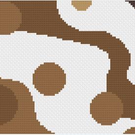 Dots and Waves 2 - borduurpakket met telpatroon Nafra |  | Artikelnummer: nf-nafra21022