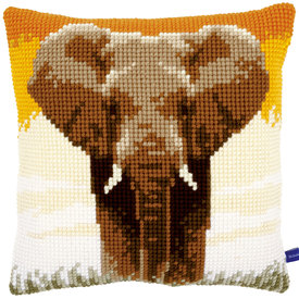 Elephant in the Savanna - Vervaco Kruissteekkussen |  | Artikelnummer: vvc-150146