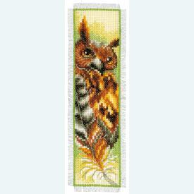 Bladwijzer Owl - kruissteekpakket met telpatroon Vervaco |  | Artikelnummer: vvc-144707