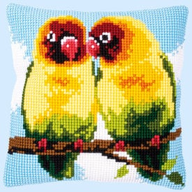 Love Birds - Vervaco Kruissteekkussen      Artikelnummer: vvc-153553