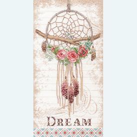 Floral Dreamcatcher - borduurpakket met telpatroon Dimensions |  | Artikelnummer: dim-70-35375