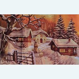 Return to the Sheep Barn - bundel van geschilderd stramien + borduurwol, te borduren in halve kruissteek |  | Artikelnummer: rp-146-071