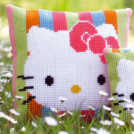 Hello Kitty Striped - Vervaco Kruissteekkussen |  | Artikelnummer: vvc-153770