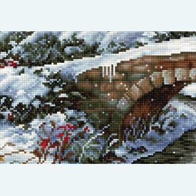 Winter Landscape 5002 - borduurpakket met telpatroon Luca-S |  | Artikelnummer: luca-bu5002