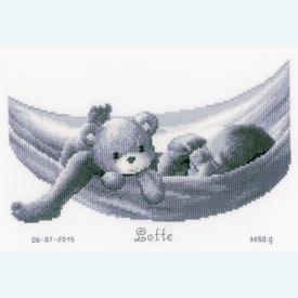 Baby in Hammock - kruissteekpakket met telpatroon Vervaco |  | Artikelnummer: vvc-150906