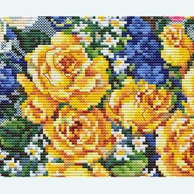 From Gabrielle's Garden - kruissteekpakket met telpatroon Luca-S |  | Artikelnummer: luca-b2392