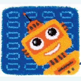 Robot - knooptapijt Vervaco  | Smyrna tapijt met robot | Artikelnummer: vvc-150161