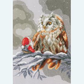 Owl and Gnome - kruissteekpakket met telpatroon Vervaco |  | Artikelnummer: vvc-158015