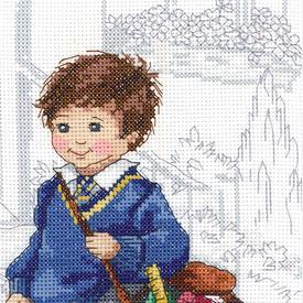 School Boy - borduurpakket met telpatroon Janlynn |  | Artikelnummer: jl-010.0400